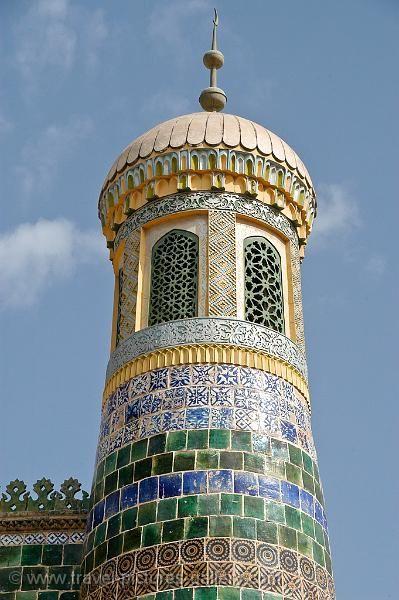 The Silk Road - China - Xinjiang - Kashgar - minaret at the Abakh Hoja Tomb by Willem Proos