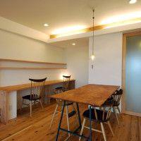 『楓のテーブルと塗り壁のある杉の家』京都府京都市西京区 | 木のマンションリフォーム・リノベーション設計実例 | 木のマンションリフォーム・リノベーション-マスタープラン一級建築士事務所
