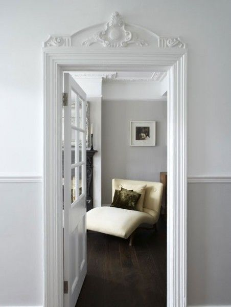 Above door molding via Our House of Paint