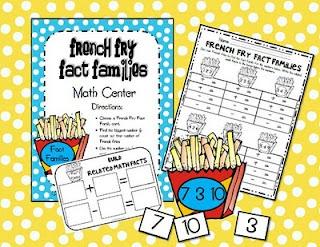 French Fry Fact Family Math Center FREEBIE! // docs.google.com