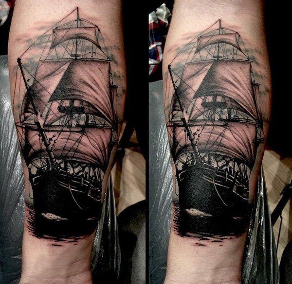 Boat forarm tattoo - 100 Boat Tattoo Designs  <3 <3
