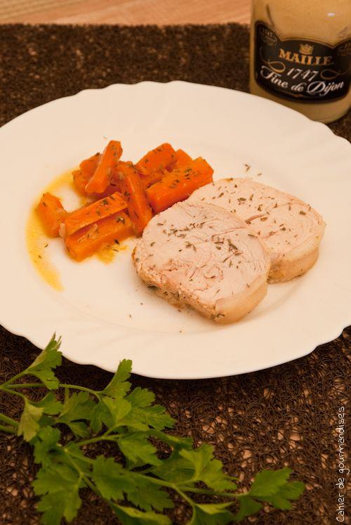 Roti de dinde aux petits oignons et carottes | Cahier de gourmandises
