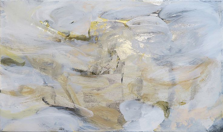 A new forest, oil and metal leaf on canvas, 30x52cm