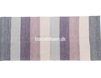 Sebra vævet gulvtæppe, pastel lilla