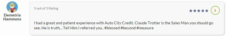 Formally @ Auto City Credit Buckner Blvd & Loop 12 Now @ Auto City Super Center 940 N. I-35E in Lancaster. Call Claude Trotter 2142714802 today! #MakingADifferenceWhileMakingALiving