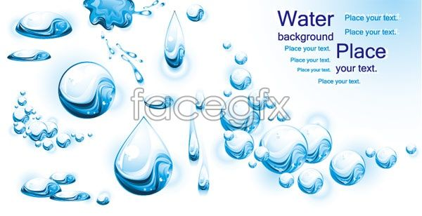 Water blisters vector