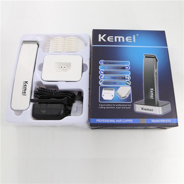 Kemei 110-240V Men Rechargeable Electric Hair Trimmer Beard Clipper Haircut Set Kit Cordless at Banggood
