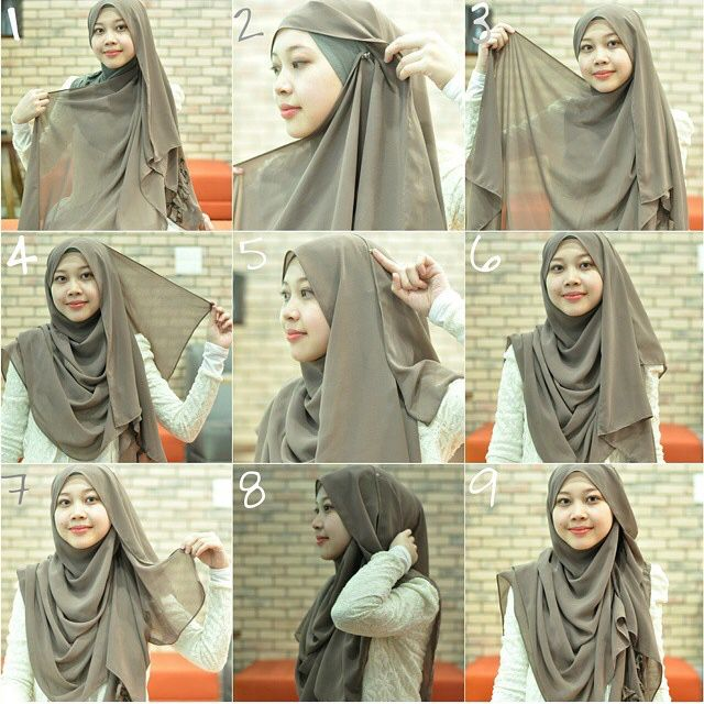 Love the ruffless look for this hijab tutorial  #hijabtutorial #stepbystep