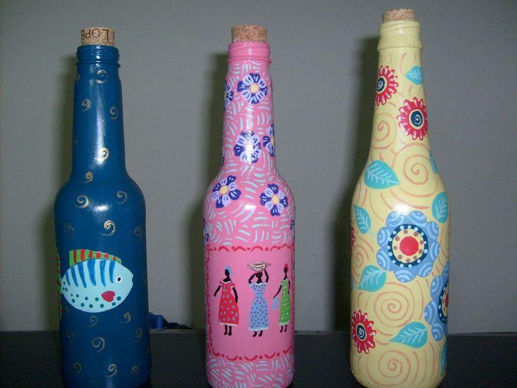ARTE COM VONTADE: Garrafas Recicladas