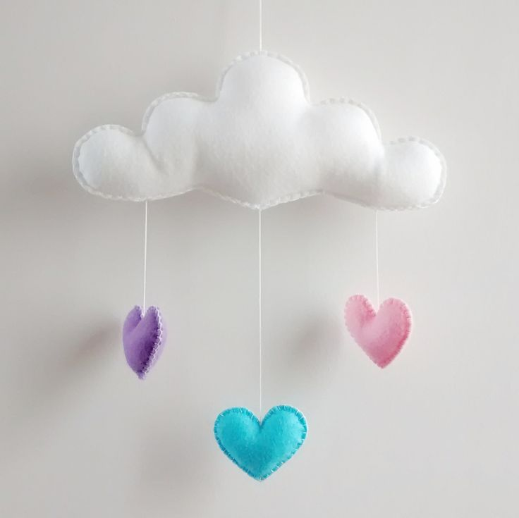 Love Cloud Mobile 'VIOLETA'- Ready to Ship! | Nursery Decor | Baby | Kids | It's Raining Love! by CloudishHandmade on Etsy