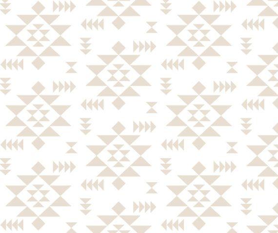Crib Sheet in Beige Navajo Southwestern Nursery by woolfwithme