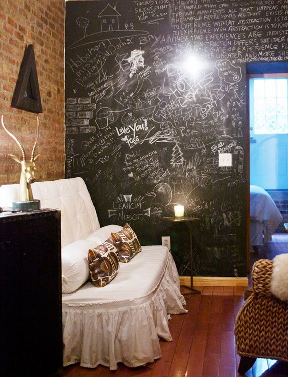 Make Your House Own Paint A Wall With Chalkboard To Write Notes