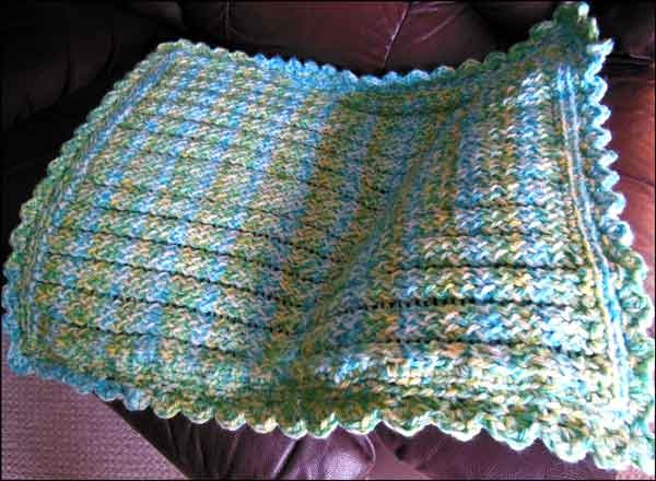 Knitting With Looms Finished Baby Boy Stroller Blanket For Ces