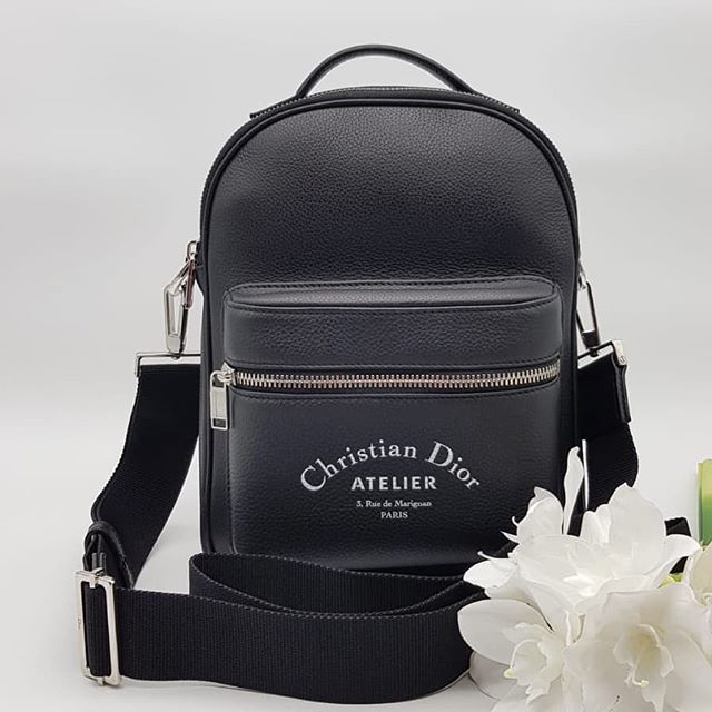 043f0773159d36 New Dior 'Rider' Mini Bag Black Grained Calfskin Removable and Adjustable  Shoulder Strap Silver Hardware measuring 20.5cm by 26cm by 4.5cm. Full set.