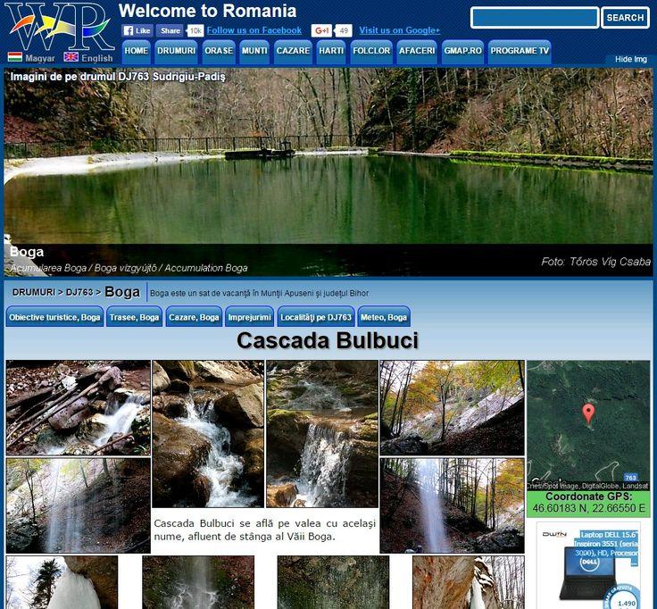 Bulbuci waterfall  in the Apuseni Mountains and Bihor countyhttp://www.welcometoromania.ro/DJ763/DJ763_Cascada_Bulbuci_r.htm