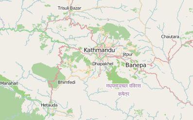 kathmandu OSM map
