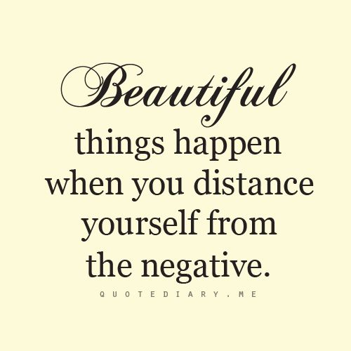 """Beautiful things happen when you distance yourself from the negative."" #Sports…"