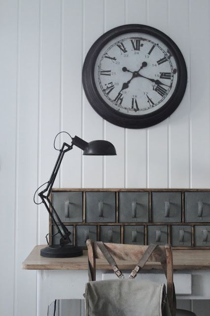 clock ... lamp ... industrial cool