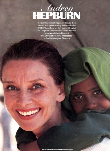 the life and humanitarian work of audrey hepburn Watch audrey hepburn devoting much of her later life to unicef, hepburn's war-time struggles inspired her passion for humanitarian work and, although hepburn.