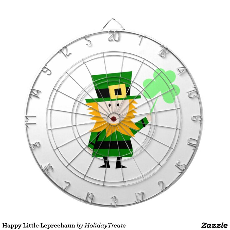 Happy Little Leprechaun Dartboard With Darts