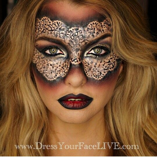Incredible masquerade makeup