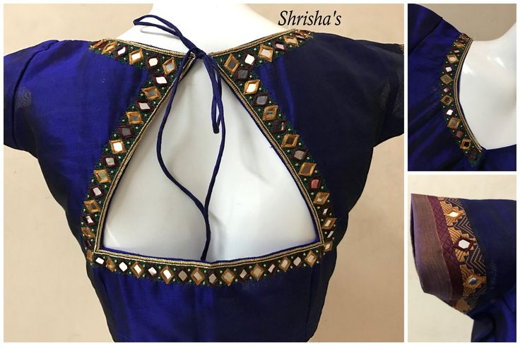 Mirror Mirror :) BLOUSE CODE: B0108 Kindly inbox/ email us for price details  Call us/ Whatsapp/ Viber: 9894614882 Email: shrishas.sai@gmail.com Shipping worldwide Delivery within 5 working Days