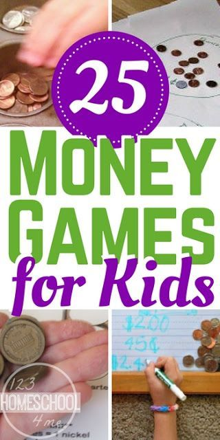 25 FUN Money Games - These creative and unique money games for kids are a great way to help kids practice counting money. Counting money activities and counting money games make learning fun for kindergarten, first grade, 2nd grade, 3rd grade, and 4th grade kids. (money games for kindergarten, homeschool)