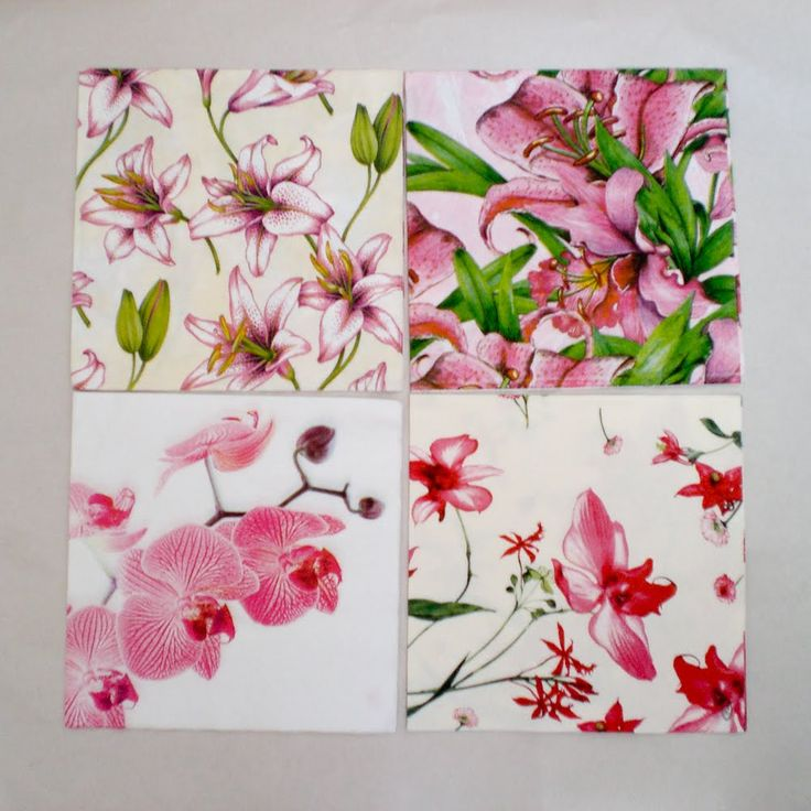 Tile Coasters Decoupage With Napkins Design Amp Diy