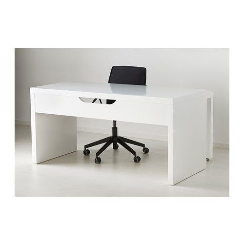 Malm Desk With Pull Out Panel White Cable Receptions