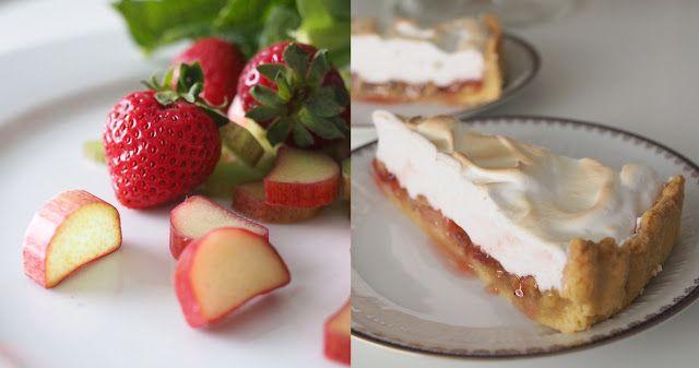 Rrubarb-strawberry pie with a hint of cardamon. Raparperi-mansikkapiiras ripauksella kardemummaa