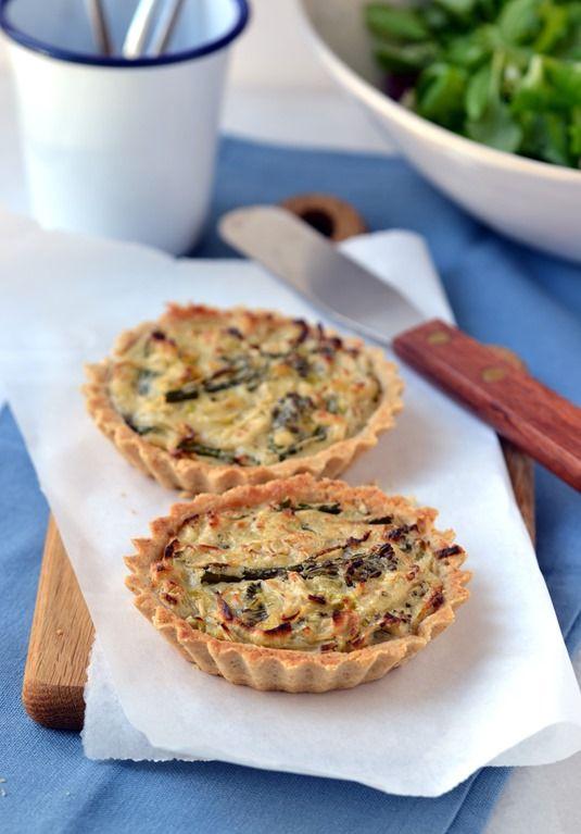"""Cheesy"" Leek & Broccoli Tartlets (Vegan, Gluten-free, Soy-Free)"