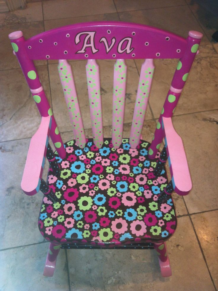 Hand Painted Children's Furniture. Hand Painted Rocking Chair. Hand Painted…