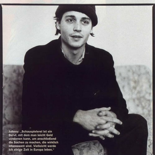 Johnny Depp....young and sweet