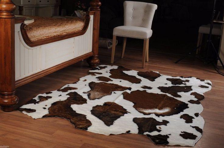Fake Fur Ecology Cow skin plush RUG LARGE SIZE new NWT 59x86,6 inches #Belfa #ShagFlokati