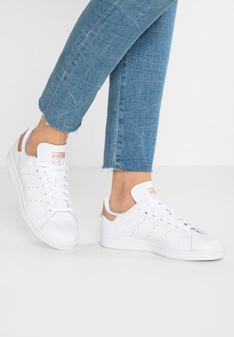 Adidas Stan Smith White Rose Gold Blue Dress | Blog