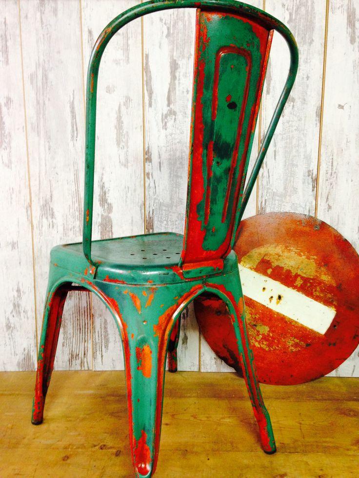 Si vous cherchez une toli re de l industrie - Ancienne chaise tolix ...