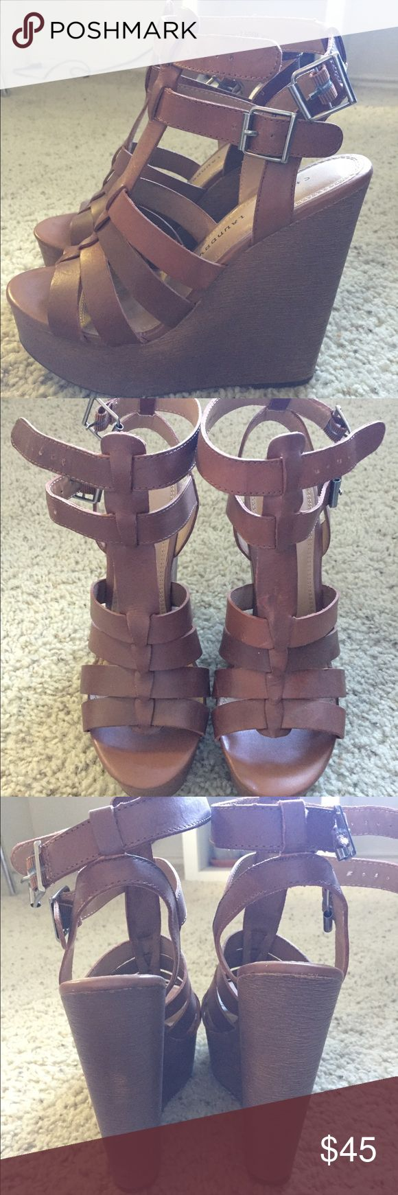 Brown Chinese Laundry wedges size 7.5 Brown wedges bought from Nordstrom Rack. Worn only once for an hour. Fits true to size. Chinese Laundry Shoes Wedges