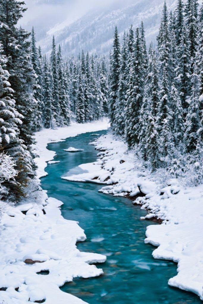Magic Winter - North Saskatchewan River, Banff National Park, Alberta, Canada
