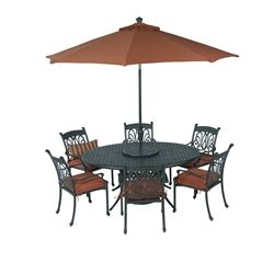 Summerset Ariana 10pc 70x50 Oval Egg Dining   Set Includes: Six Ariana  Dining Chairs,