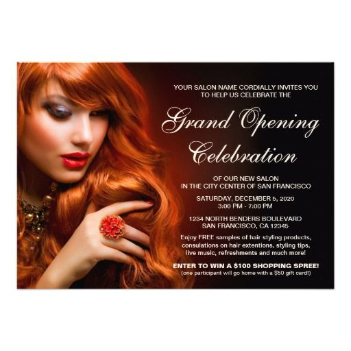 Salon grand opening invitations template invitation templates grand opening and salons for Salon flyers ideas