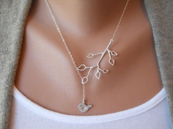 Love this necklace: Sterling Silver Chains, Branches Necklaces, Mothers Day, Bud Branches, Little Birds, Birds Necklaces, Trees Branches, Cute Necklaces, Beautiful Birds