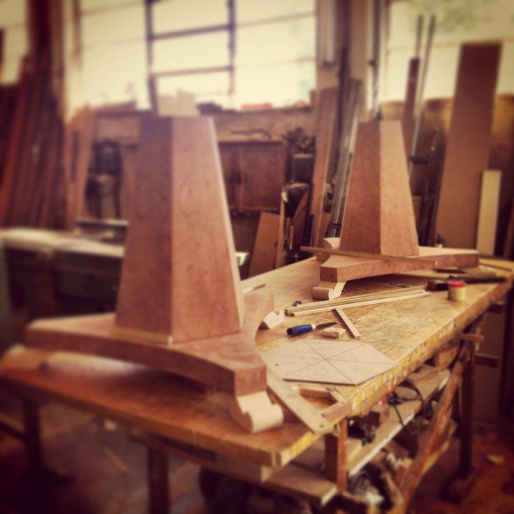 Dining table base under construction at our workshop #karageorgiou