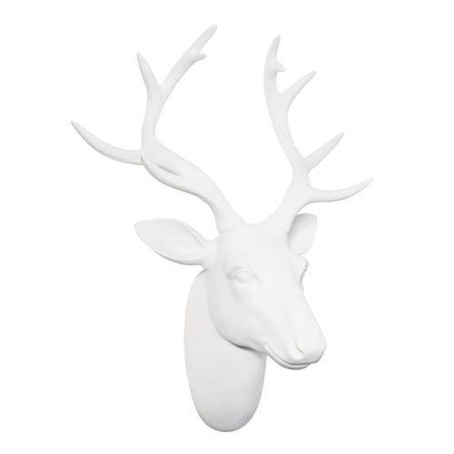 42,99€ Déco murale tête de cerf blanche POLAIRE