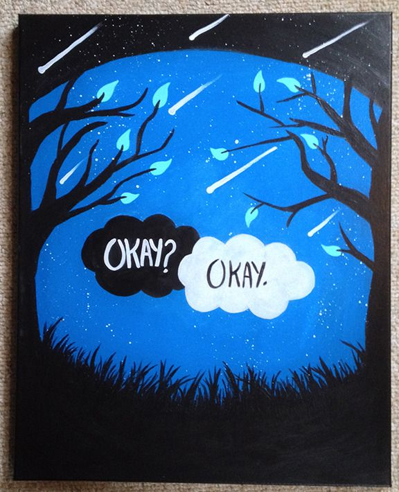 fault in our stars canvas - Google Search