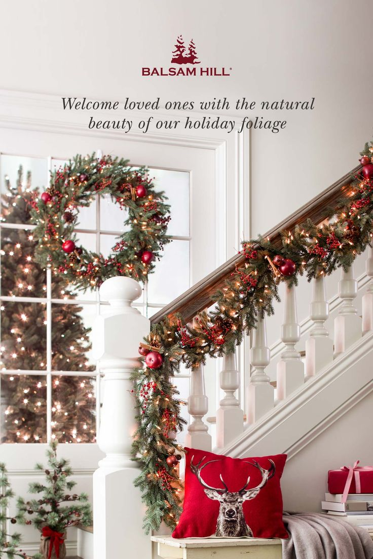 Welcome your guests in holiday splendor with Balsam Hill's selection of wreaths and garlands. Inspired by the beauty of nature, our foliage helps you create gorgeous #Christmas displays. Shop Balsam Hill™ with Free Shipping, and celebrate the season in warm, evergreen delight.