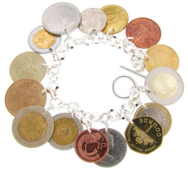 Travel Coin Bracelet love this idea