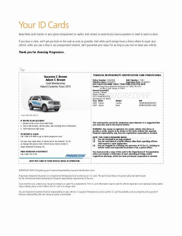 Auto Insurance Card Template Pdf Fresh Illinois Fake ...