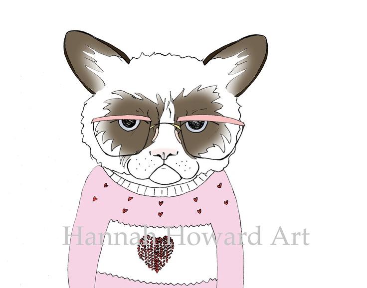 Die besten 25 Grumpy cat valentines Ideen auf Pinterest  Grumpy