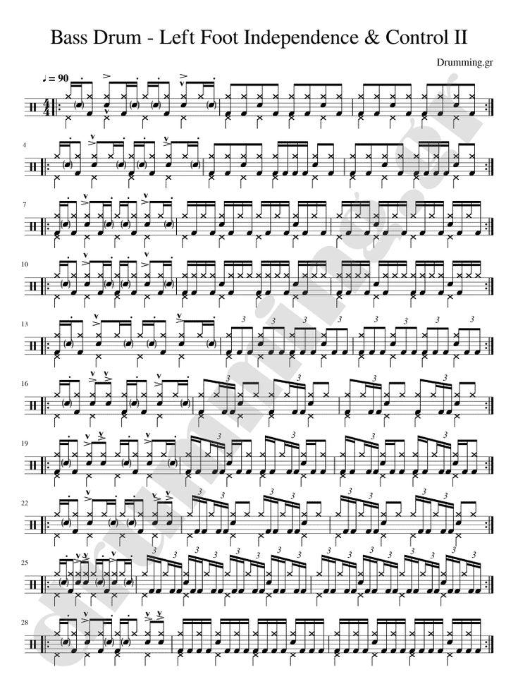 Ανεξαρτησία Bass Drum and Left Foot Independence IΙ