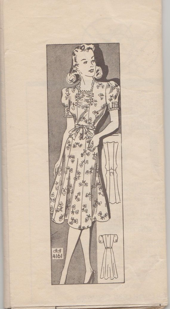 This vintage Anne Adams sewing pattern was designed in the late 1930s. It makes a dress with a square neckline and princess seams. Size 18: Bust 36 --- Waist 30 --- Hip 39. It is an unprinted pattern that is unused and still in factory folds. The instructions and original glassine envelope are included. Like most mail order patterns, there is no decorative envelope.  To see more vintage dress patterns: https://www.etsy.com/shop/studioGpatterns?ref=hdr_shop_menu&s...